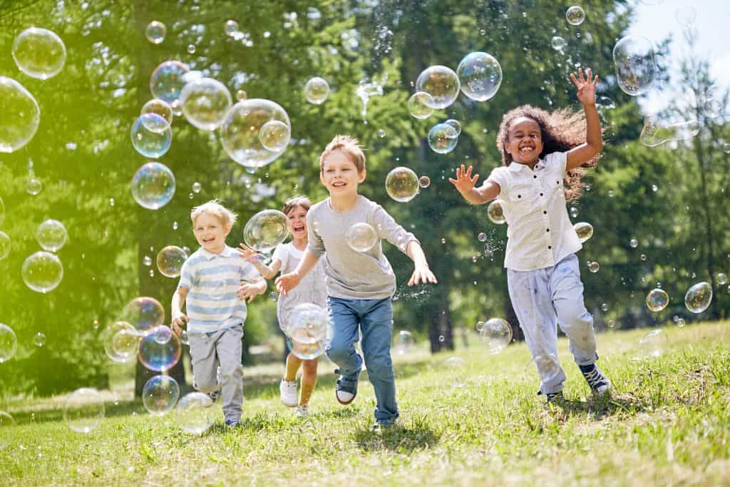 Bubbles - Picnic activities for toddlers