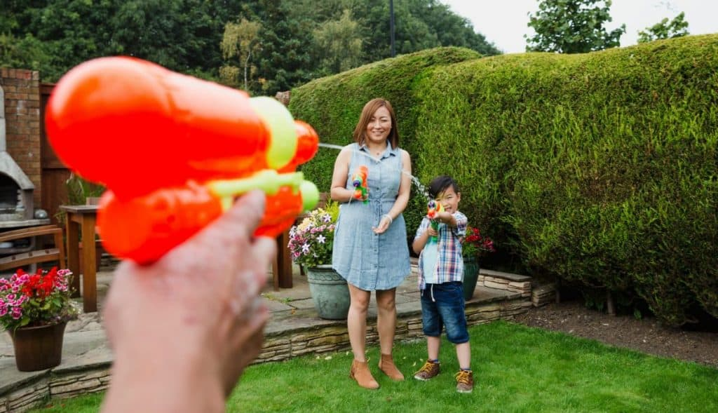Water fight for all ages